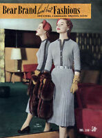 Bear Brand 346 C.1953 Knitting Patterns For Sweaters Cardigans, Dresses & Suits