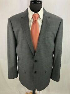 Indochino-Men-039-s-Gray-Glen-Plaid-Blazer-Jacket-Sport-Coat-42L