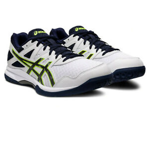 Asics Homme Gel-Task 2 Cour Chaussures-Blanc Sports Squash Respirant Léger