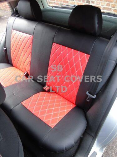 i SEMI FIT A FIAT 500C CAR FULL SET SEAT COVERS ROSSINI DIAMOND-RED