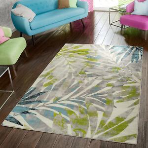 Das Bild Wird Geladen Teppich Modern Preiswert Wohnzimmer  Teppiche Palmen Style In