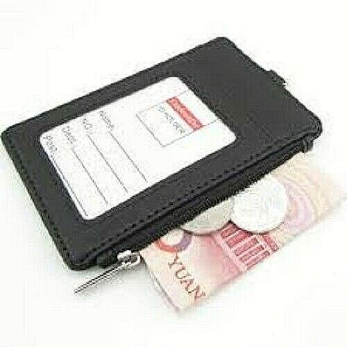 CMXSEVENDAY C68810 RFID Badge ID Holder Faux Leather Double Sided ID Card Holder