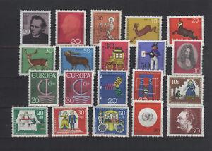 (jg66) Bundesrepublik - Jahrgang 1966 - komplett - ohne Freimarken - postfrisch