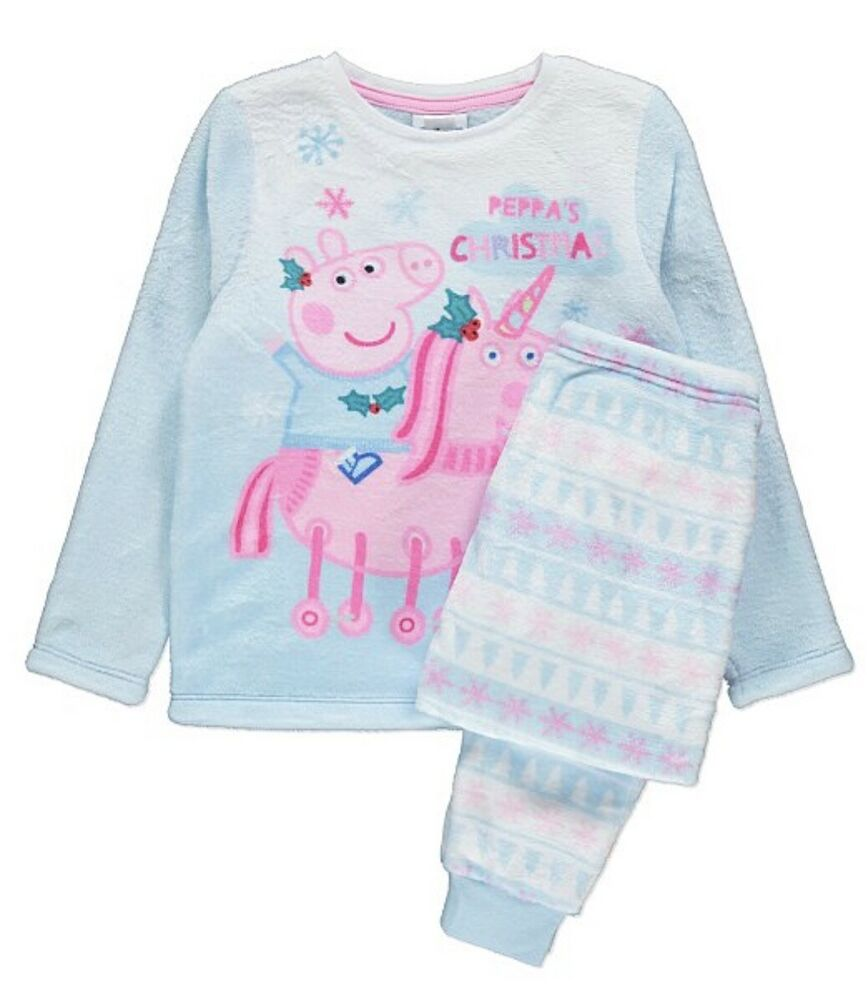 2019 Nouveau Style Authentique Peppa Pig Fleece Noël Pyjamas Nighty Lit Temps Noël Licorne Performance Fiable