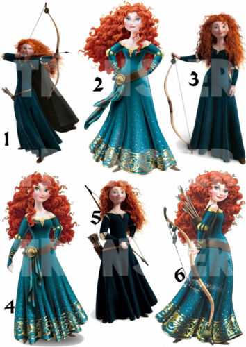 REBELLE MERIDA DISNEY STICKER AUTOCOLLANT OU TRANSFERT TEXTILE VETEMENT