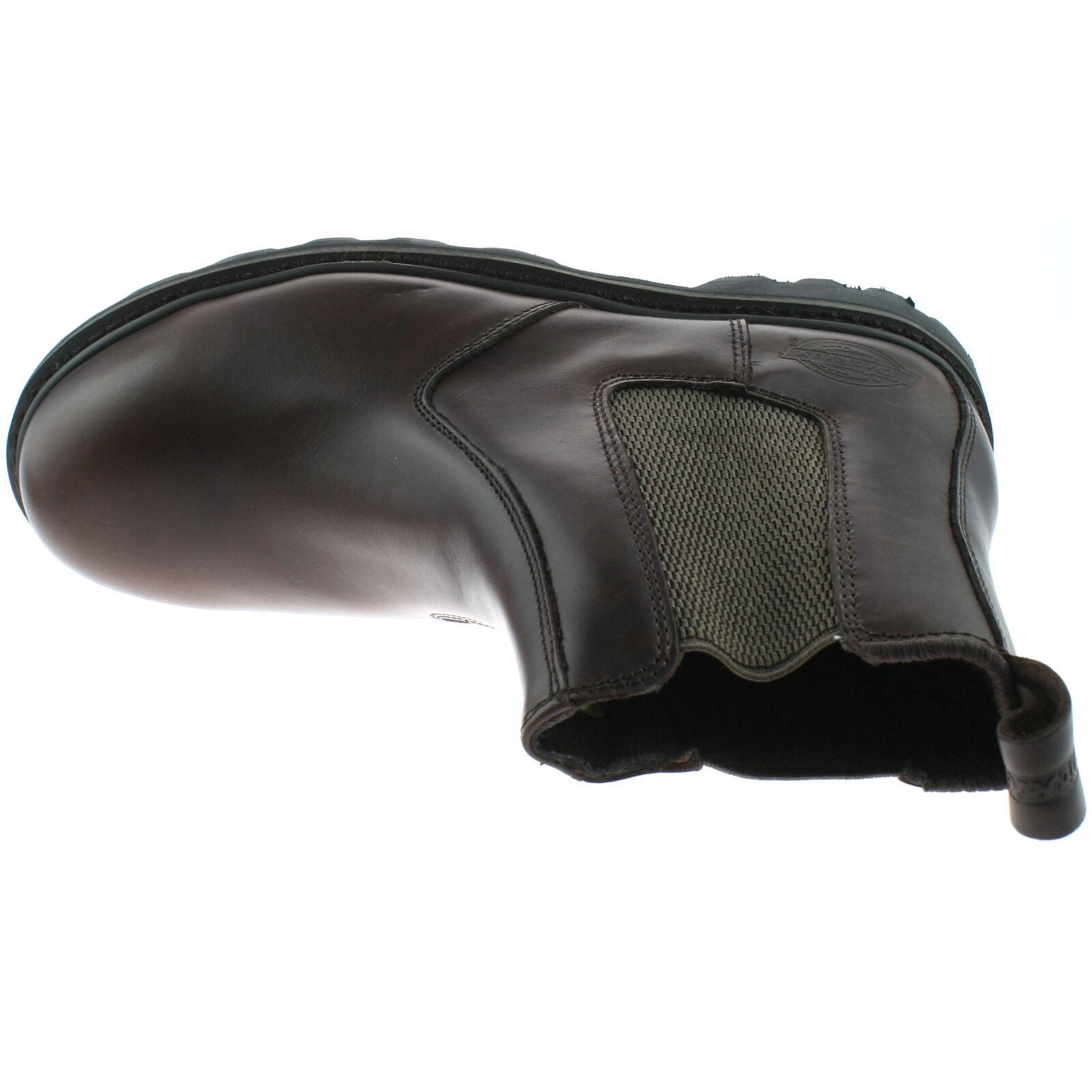 Herren DICKIES SAFETY LEATHER DEALER - Stiefel SIZE UK 6 - DEALER 12 BLACK BROWN FD22200 413074
