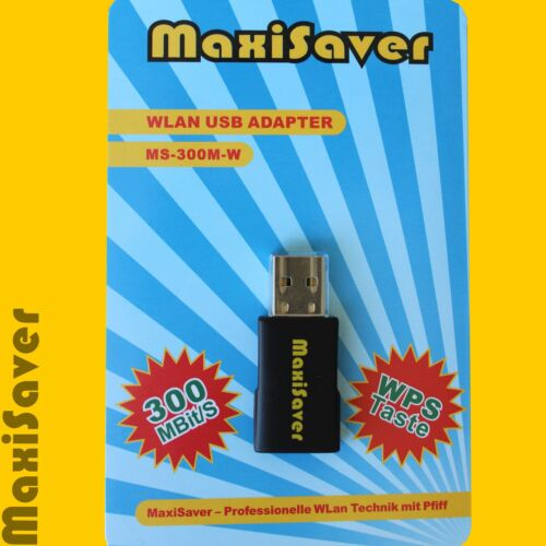 also for Win 8.1 WPS 300 Mbps//s Wlan WiFi Stick Adapter USB 802 11n//g LAN