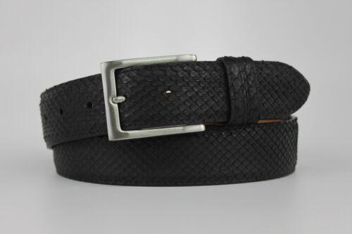 Black Matte Custom made Size 32-44 Genuine Python Leather Belt