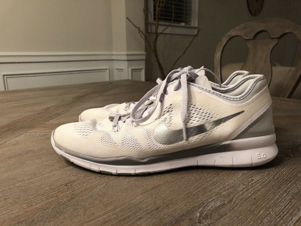Nike Free 5.0 Tr Fit Womens White 11.5 Silver Size 11.5 White e5afd4