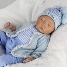 Lifelike Reborn Newborn Dolls 22inch Vinyl Silicone Baby Boy Doll Birthday Gifts