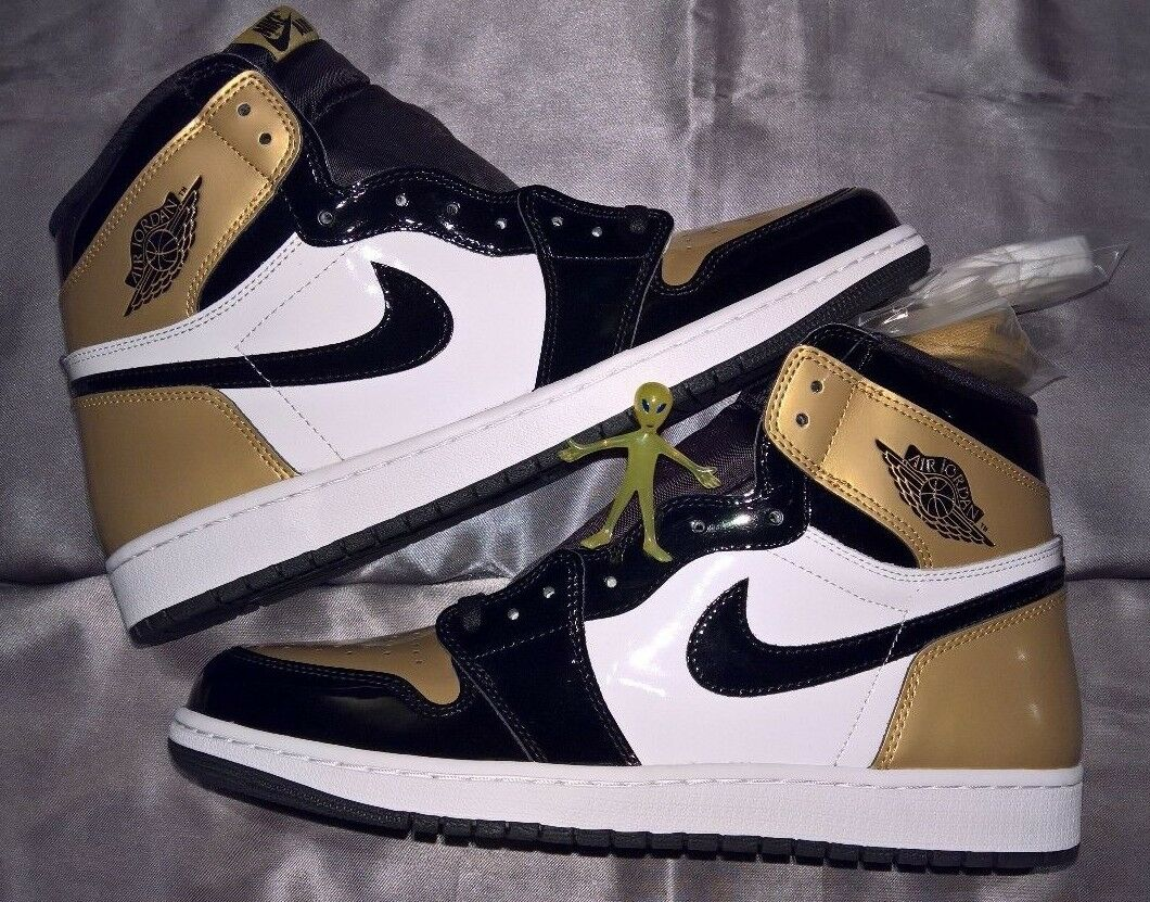 Nike Air Jordan 1 Retro High OG NRG Gold Toe Mens Size 12 861428-007 BNIB