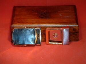 Pre-Owned-2-Brass-amp-Metal-Belt-Buckles