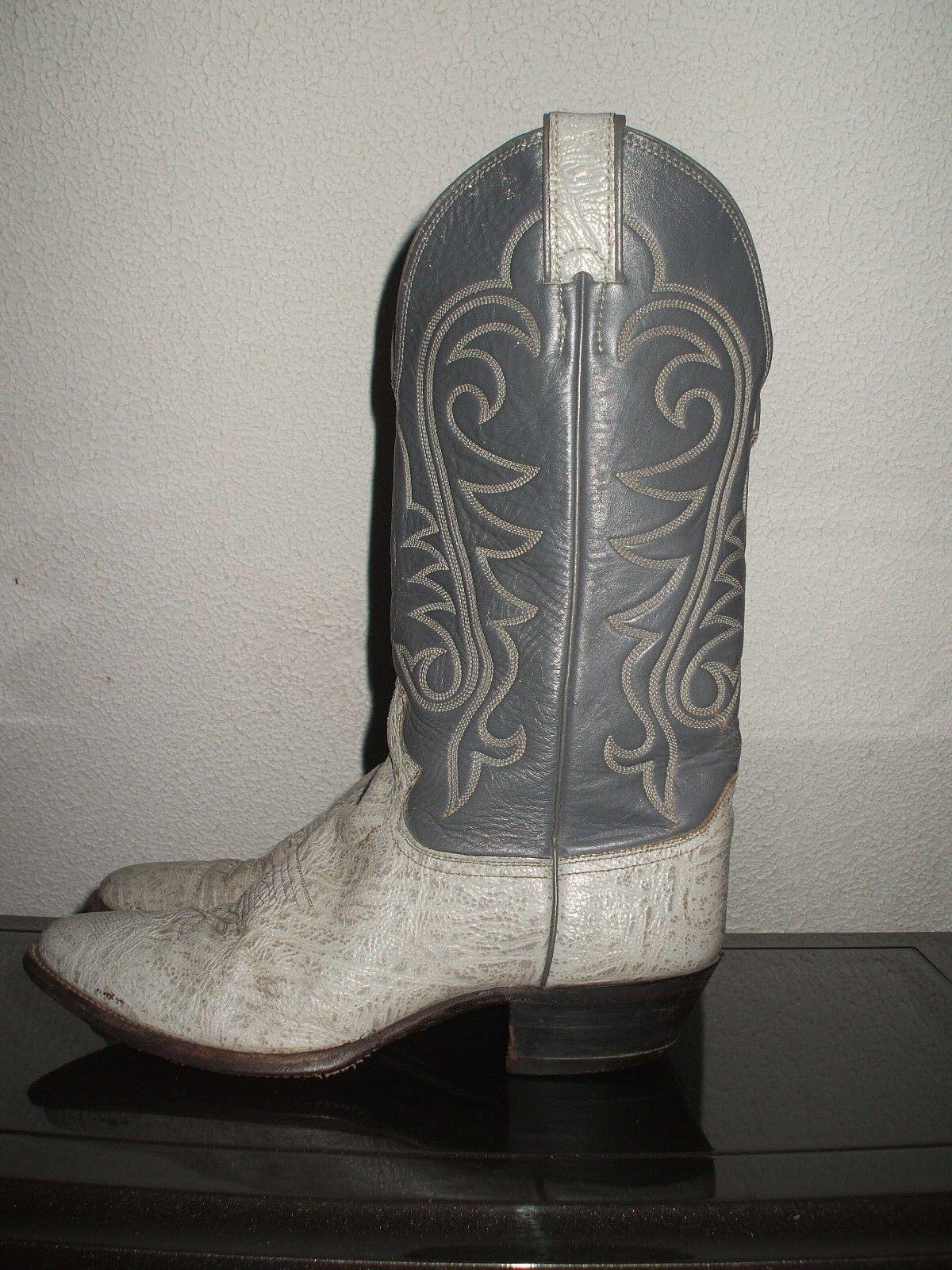 Justin para  Hombres Color gris Elefante occidental de cuero botas de Vaquero 9 D  ¡envío gratis!