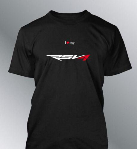Tee shirt personnalise RSV4 S M L XL XXL homme noir rouge moto