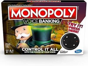 NEW HASBRO MONOPOLY VOICE BANKING BOARD GAME E4816