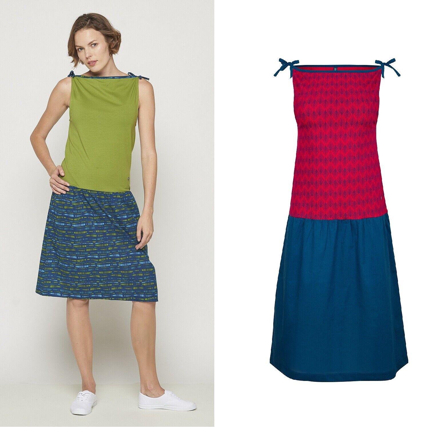 6f965dcbbaca4b Tranquillo Kleid Kombi-Kleid Bio-Baumwolle blau grün S19E27 rot Twiggy  npycli2420-neue Kleidung