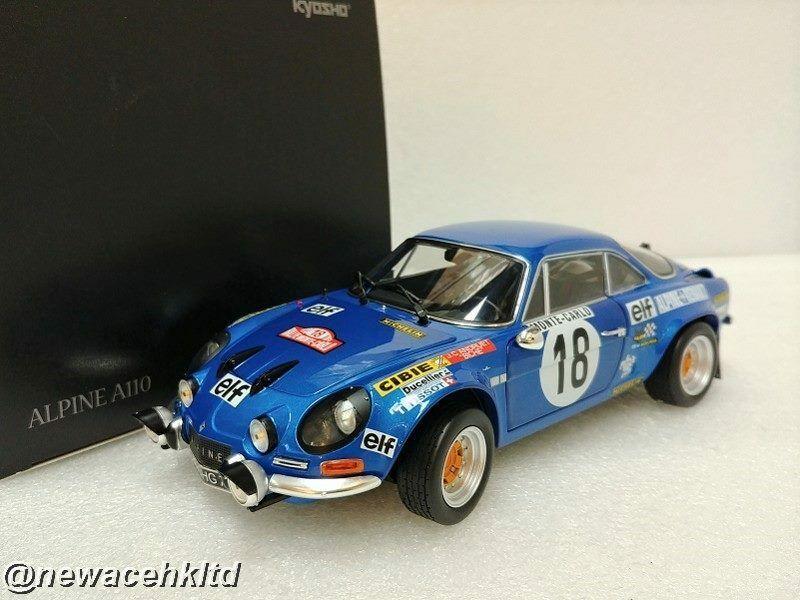 Alpine A110 Winner Monte Carlo Rally 1973 Kyosho Mode1 18 E