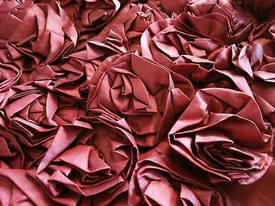 Romantic Lovely Wine Red 3D Rose Embroidery Cushion Cover A