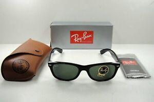 753f93cc01d Ray-Ban New WAYFARER 2132 901L 55 Large BLACK GREEN Sunglasses NEW ...