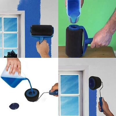 8pcs//set Multifunctional Wall Decorative Paint Roller Brush Handle Tools