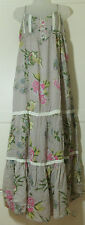 Miss Selfridge Floral Cottom Mix Strappy Maxi Summer Peasant Dress UK 16 Boho