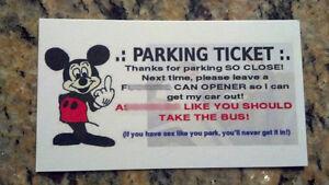 Funny Parking Ticket Business Cards Joke Gag Gift Set Of 50 Ebay