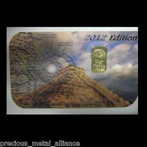 Collectors-10-GRAIN-24K-PURE-999-GOLD-BULLION-2012-MAYAN-CALENDER-LTD-EDITION