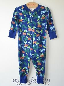 192a86426 HANNA ANDERSSON Baby Organic Zip Sleeper Tropical Tiger 50 0-6 ...