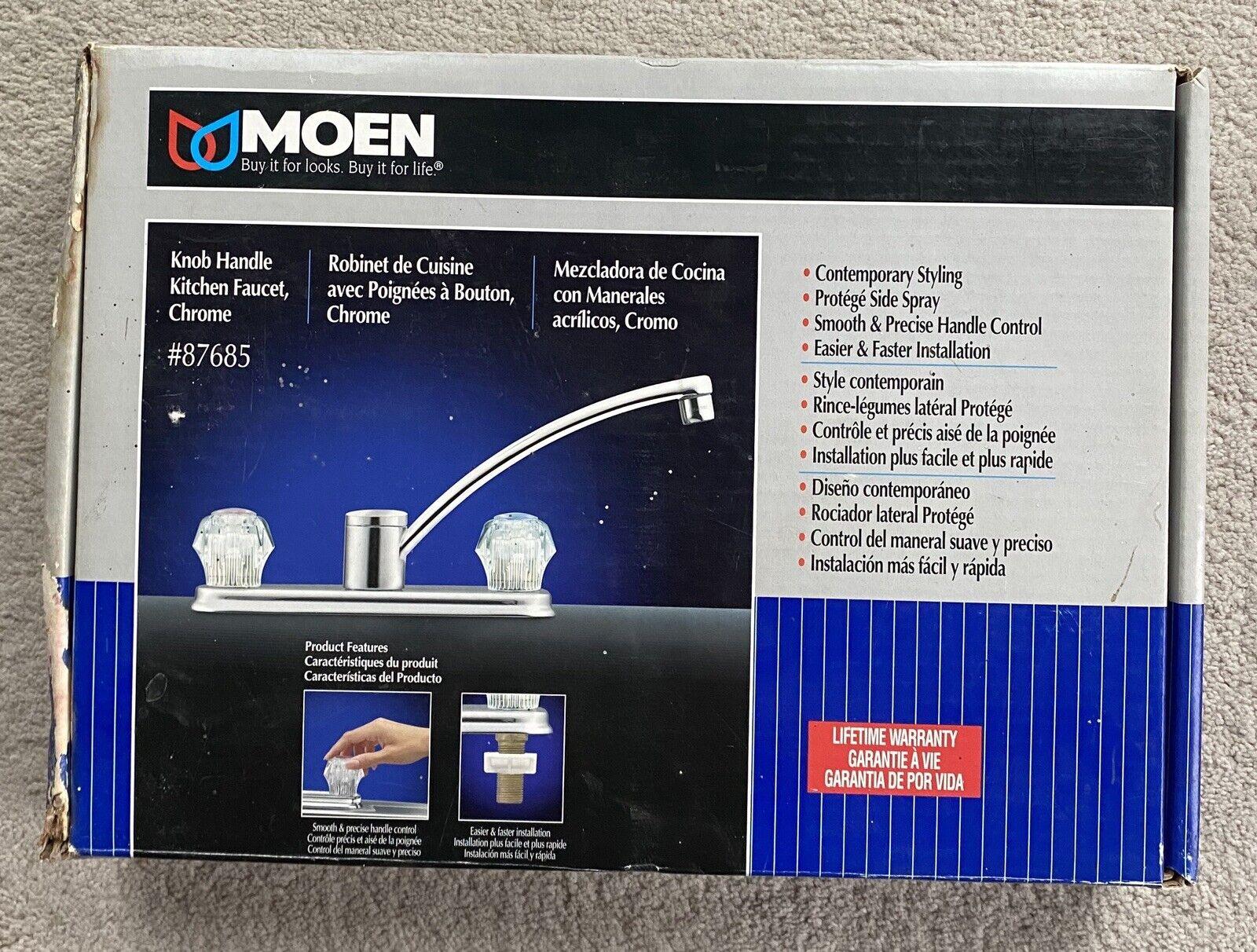 Moen 2 Knob Handle Kitchen Faucet Chrome 87685 Nos For Sale Online