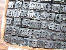 Lot 2 Antique Vtg Letterpress Print Type Fancy Ornate Letters Font Unknown