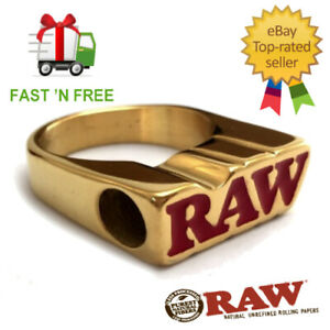 Raw-Smoke-Ring-24K-Gold-Plated-Cone-Cigarette-Holder