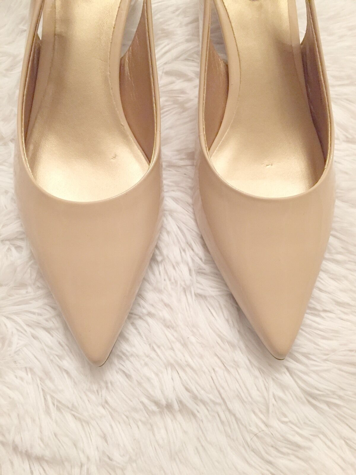 NEW Tredters Classic Prima Nude Patent Patent Patent Leather Kitten Heel Wide 6.5W Comfort 2f8f79