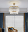 thumbnail 7 - Modern Crystal Gold Chandelier Round Glass Dining Room Living Light Fixture