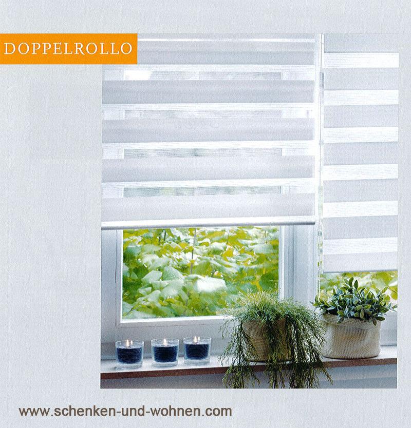 EasyFix  Doppelrollo Weiß 100  x x x 150 cm 2061ef