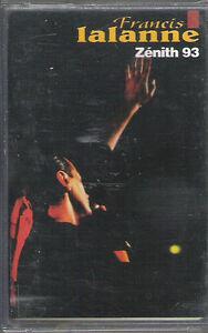 """Cassette audio """"Francis LALANNE"""" Zénith 93 - France - État : Trs bon état: Objet ayant déj servi, mais qui est toujours en trs bon état. Le botier ou la pochette ne présente aucun dommage, aucune éraflure, aucune rayure, aucune fissure ni aucun trou. Pour les CD, le livret et le texte l'arrire - France"""