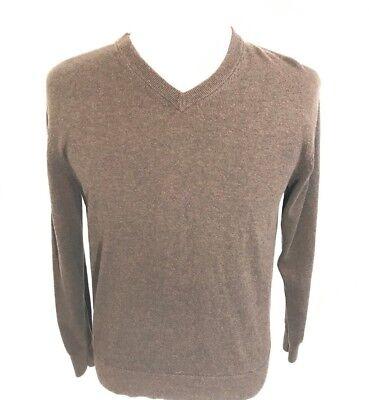 Men/'s Daniel Cremieux 100/% Supima Cotton V Neck Sweater Size XL Dark Brown NWT