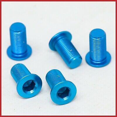 NOS ERGAL CHAINRING BOLTS TRIPLE ALLOY LIGHTWEIGHT 17mm BLUE VINTAGE 90s ROAD