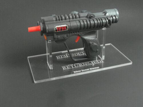 1 x Acrylique Stand-VINTAGE STAR WARS Le retour du jedi Biker Scout Blaster support seul