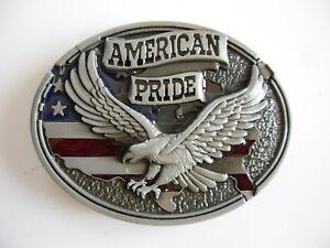 bec6716aa52f BOUCLE DE CEINTURE AIGLE DRAPEAU USA AMERICAN PRIDE   eBay
