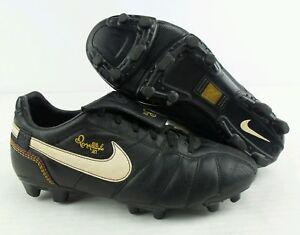 74646c5deeb Image is loading Vintage-2006-Nike-Tiempo-R10-Ronaldinho-Soccer-Cleats-