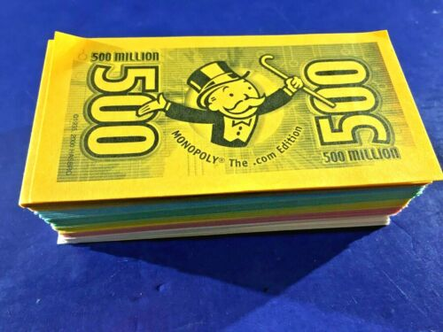 Details about  /Monopoly The .COM Edition 2000 Replacement Pieces Money Stack Of Cash tech dot