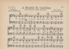Vintage UNIVERSITY of WASHINGTON song sheet-/'ALMA MATER/' c 1927 SEATTLE