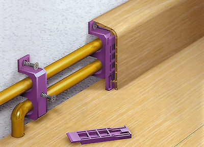Rohr-Sockelleisten- Heizungsrohr-Verkleidungen in drei verschiedenen Dekoren