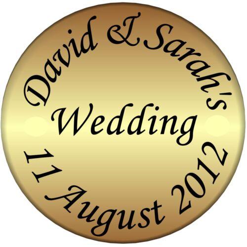 70 personnalisé or mariage invitation envelope seals