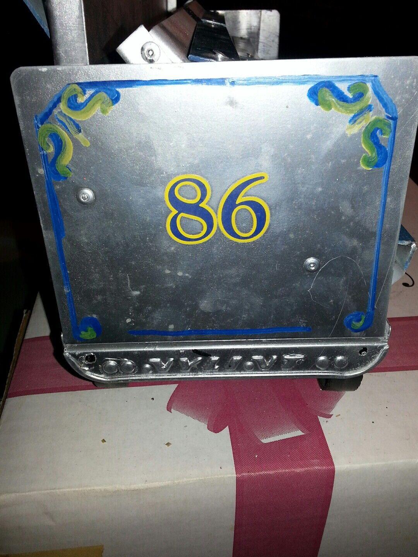 NYLINT  86 CIRCUS TRAILER Blau BLEACHERS PRESSED STEEL Vintage 1970's