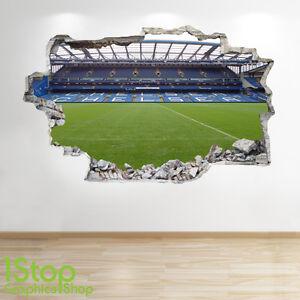 Stade de Football Autocollant Mural 3d Look Garçons Chambre D/'Enfant Z5