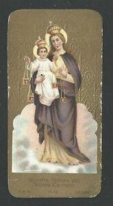 image pieuse ancianne de la Virgen del Carmen holy card santino estampa 2n2a7oL0-08052954-691733618