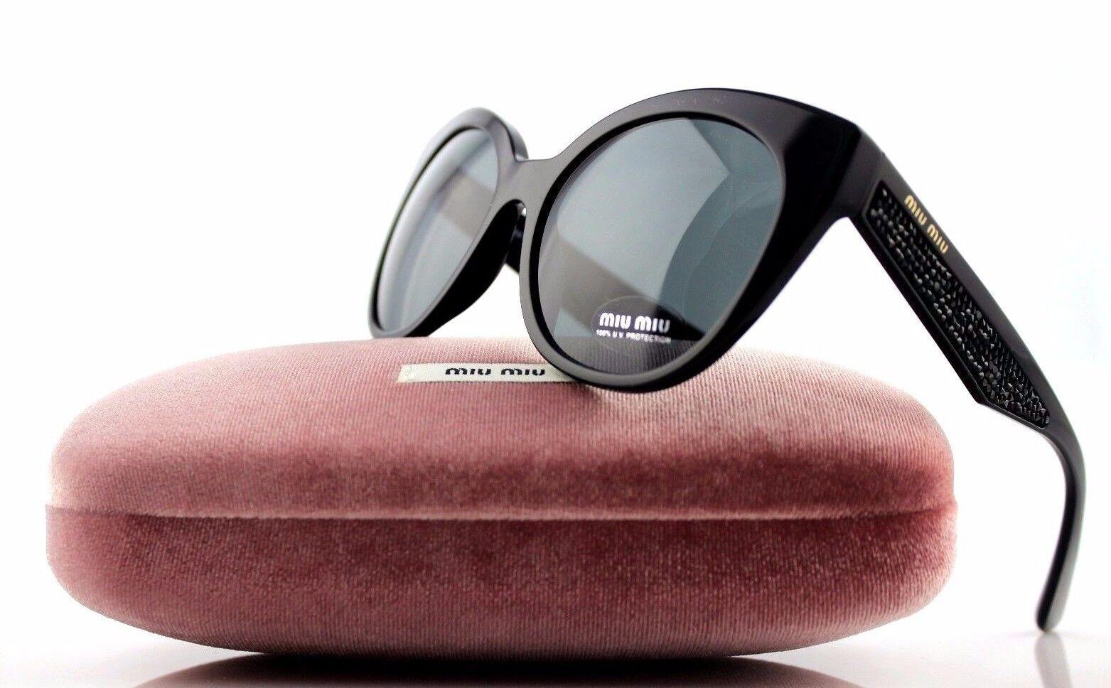 be5152b2ad2 MIU MIU Sunglasses 07rs 1ab1a1 Black Grey for sale online
