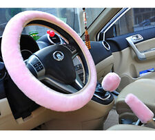 Universal Soft Wool Plush Fuzzy Auto Car Steering Wheel Cover For Winter