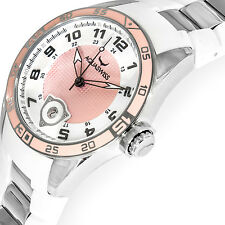 AQUASWISS TRAX Collection Brand New Pink and White Watch W/Date